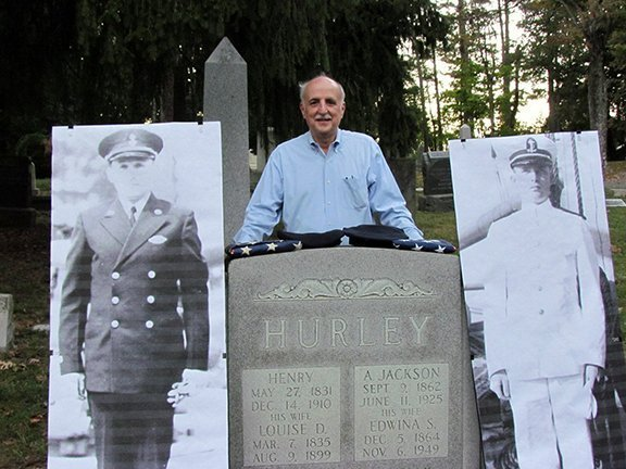 """John, recounting the lives of his uncles, """"the Carter boys"""", Rockville veterans lost during WWII"""