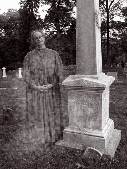 Nancy, as prominent citizen Margaret Johns Beall, described 19th-Century life in Rockville